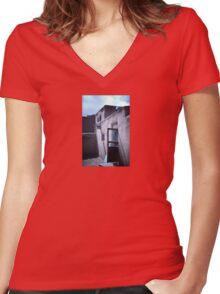 Taos Pueblo Adobe Women's Fitted V-Neck T-Shirt