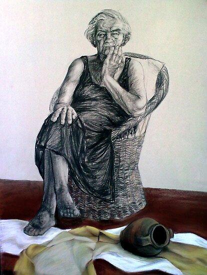 Sitting figure by Mina Marković