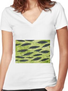 Impression Water Reed Minnows Women's Fitted V-Neck T-Shirt