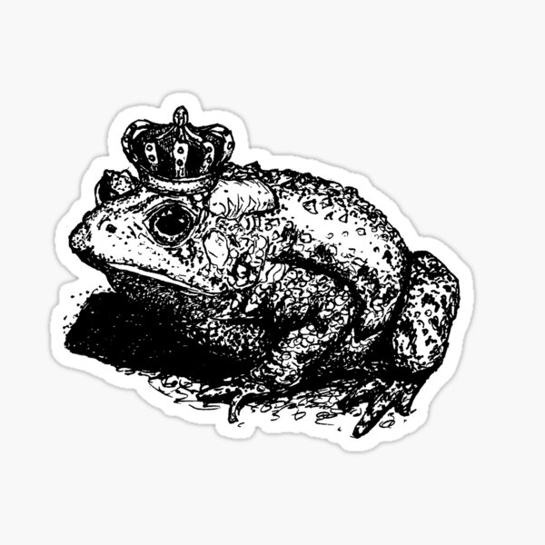 The Toad King Sticker