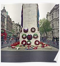 Remembrance Day - Wreaths at the Cenotaph Poster