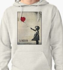 Banksy's Girl with a Red Balloon III Pullover Hoodie