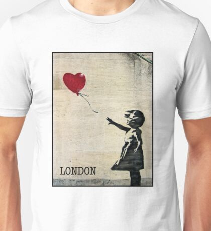 Banksy's Girl with a Red Balloon III Unisex T-Shirt