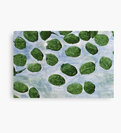 Impression Lilly Pads Canvas Print