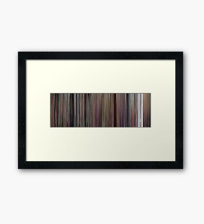 Moviebarcode: Willy Wonka & the Chocolate Factory (1971) Framed Print
