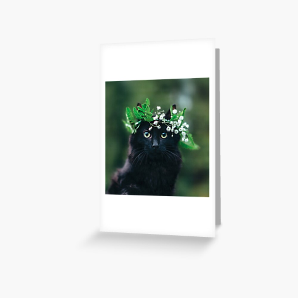 Cats and Flower Crowns Cute Memo Pad with Cover