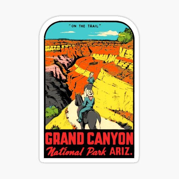 Grand Canyon National Park Arizona Vintage Travel Decal 2 Sticker