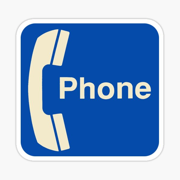 Vintage Pay Phone Sign Sticker