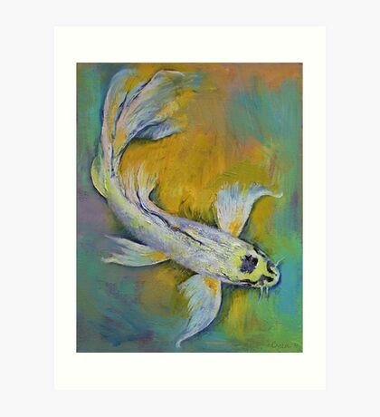 Kujaku Butterfly Koi Art Print
