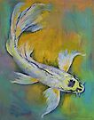 Kujaku Butterfly Koi by Michael Creese