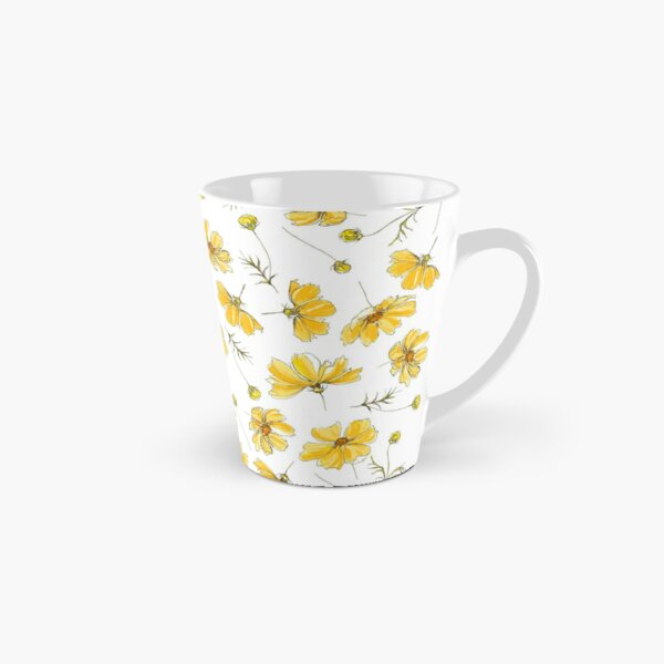 Yellow Cosmos Flowers Tall Mug