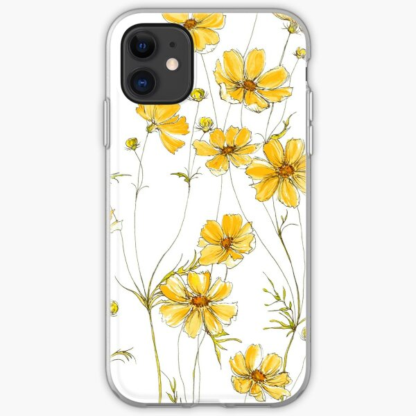 Painted Golden Yellow Daisies on soft sage green iphone 11 case