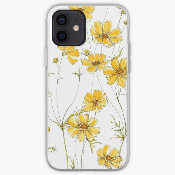 Yellow Cosmos Flowers iPhone Soft Case
