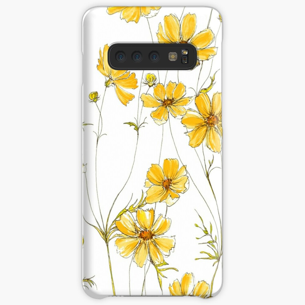 Yellow Cosmos Flowers Case & Skin for Samsung Galaxy
