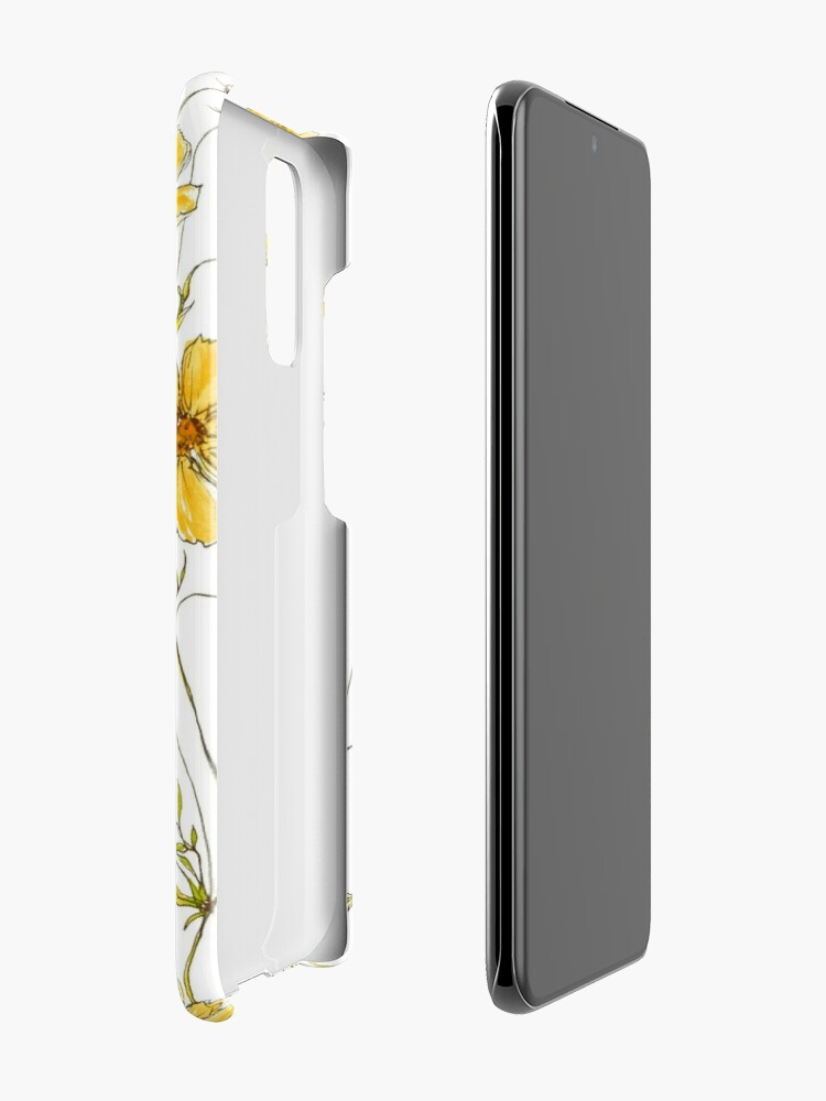 Alternate view of Yellow Cosmos Flowers Case & Skin for Samsung Galaxy