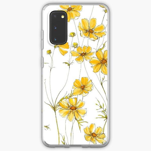 Yellow Cosmos Flowers Samsung Galaxy Soft Case