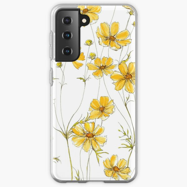 Yellow Cosmos Flowers Samsung Galaxy Soft Case