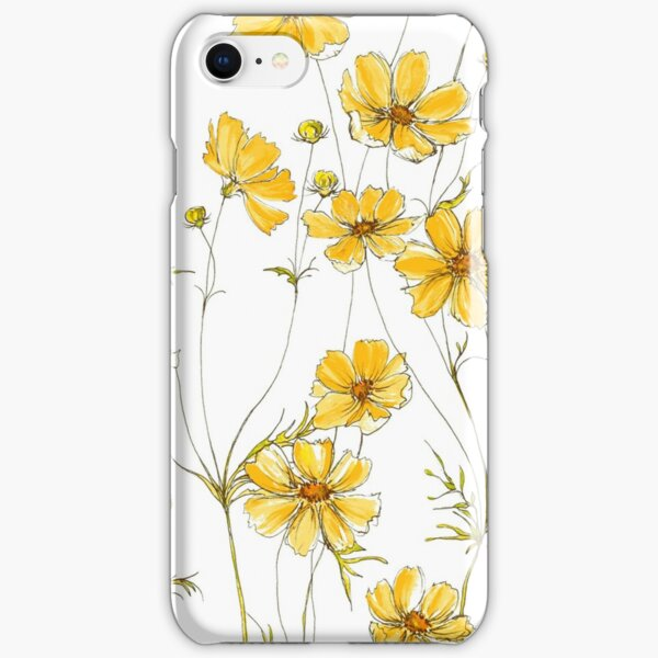 Yellow Cosmos Flowers iPhone Snap Case