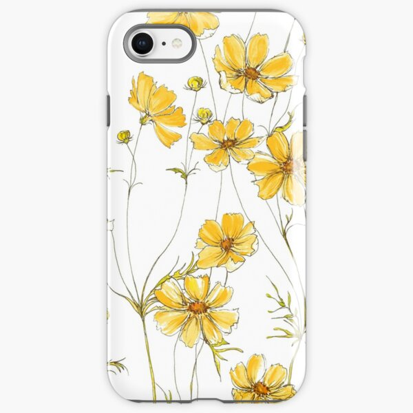 Yellow Cosmos Flowers iPhone Tough Case