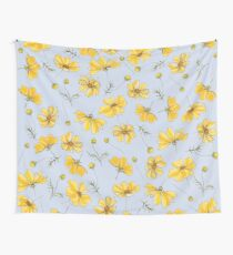Yellow Cosmos Flowers Tapestry
