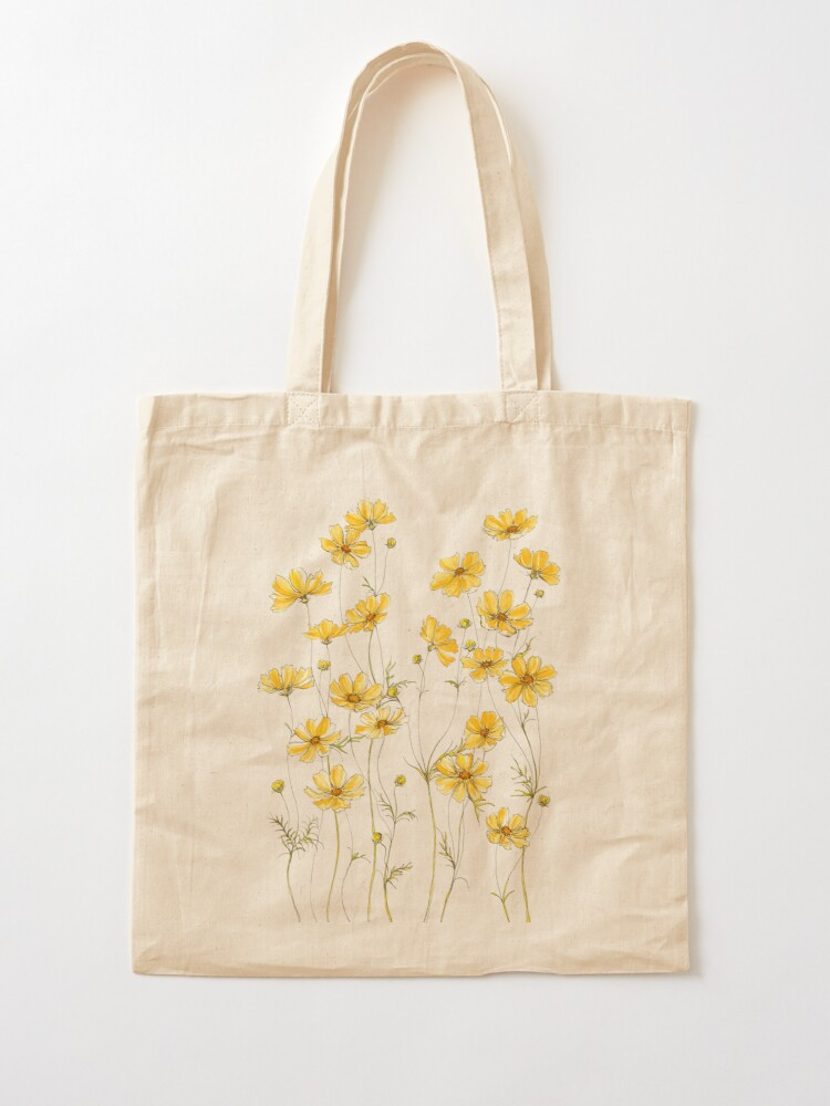 Alternate view of Yellow Cosmos Flowers Tote Bag
