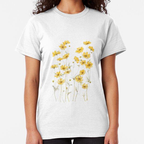Flores amarillas del cosmos Camiseta clásica