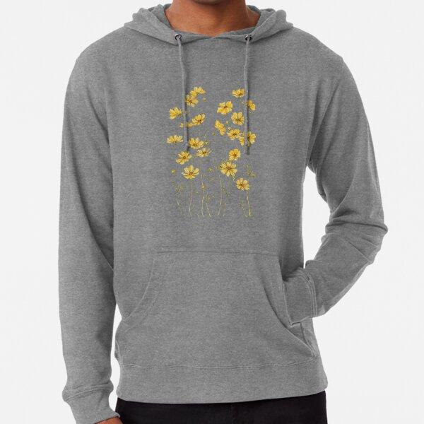 Yellow Cosmos Flowers Lightweight Hoodie