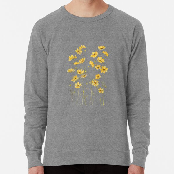 Yellow Cosmos Flowers Lightweight Sweatshirt