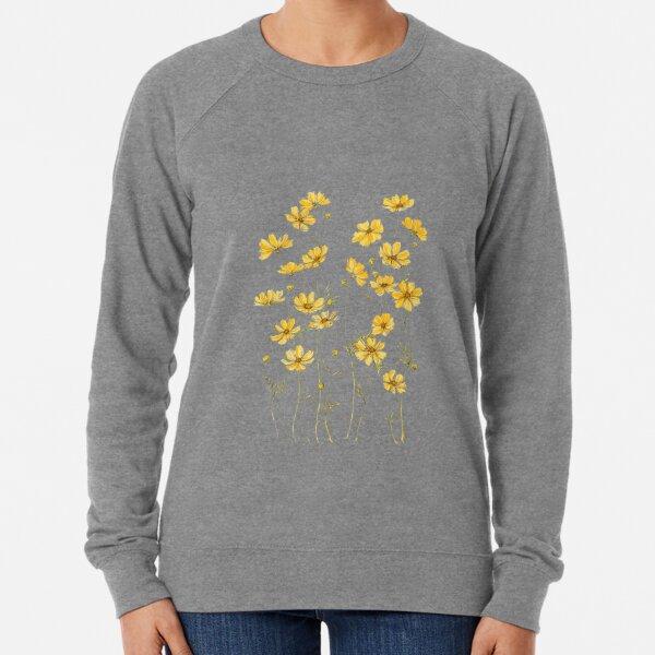 Yellow Cosmos Flowers Lightweight Sweatshirt