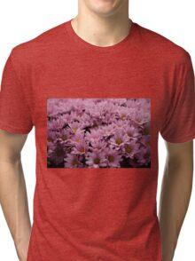 Pink Flowers Tri-blend T-Shirt