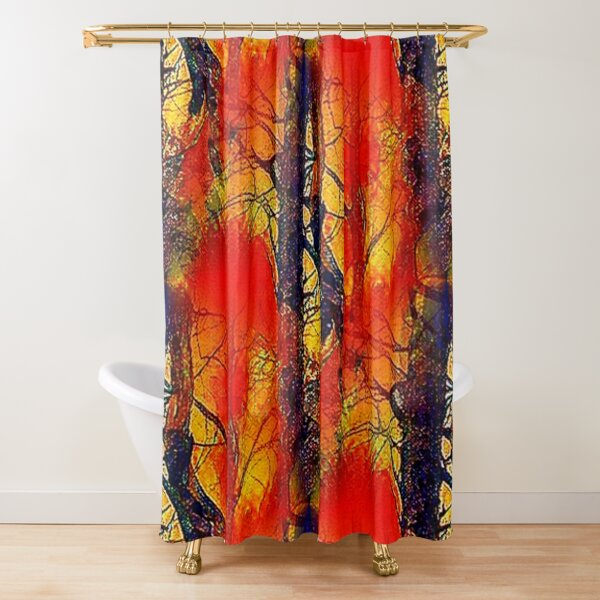 Camouflage Forest Sunset Shower Curtain
