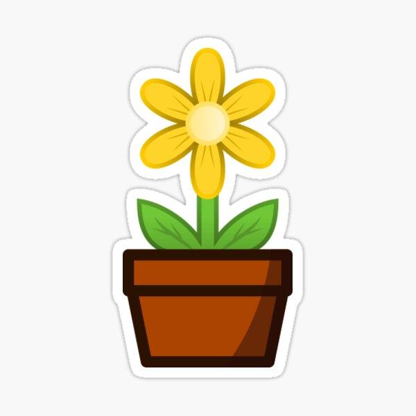 Yellow Flower Pot Sticker