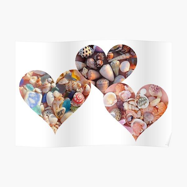 gemstones shells on beach Canvas Art Cheap Wall Print Large Any Size Pebbles