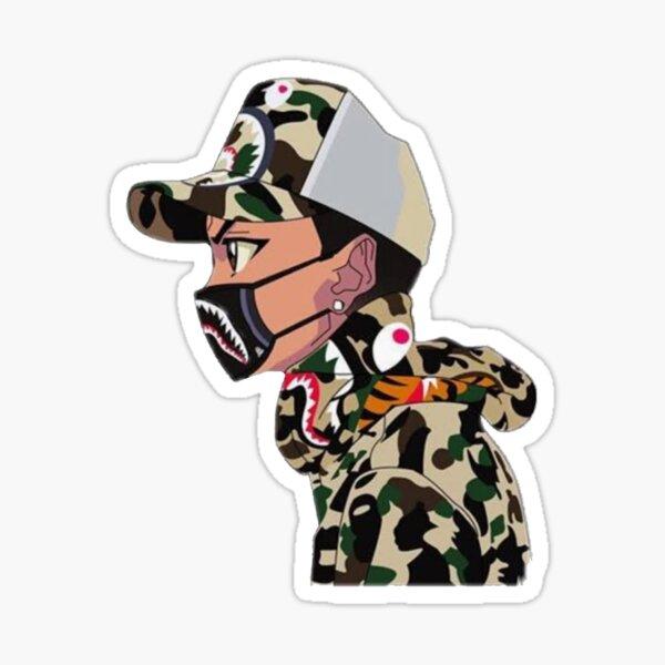 Hypebeast Bape - Riley Freeman Sticker