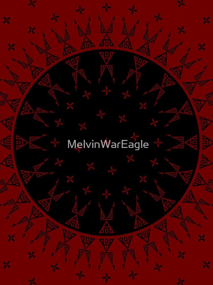 Night Stars (Maroon/Black) by MelvinWarEagle