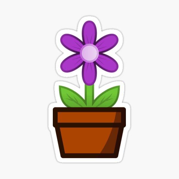 Purple Flower Pot Sticker