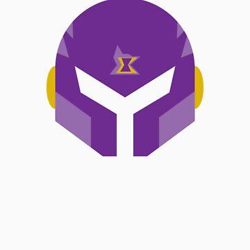 Maverick Vile Helmet  by thedailyrobot