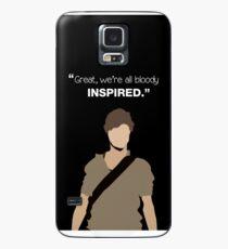 """Funda/vinilo para Samsung Galaxy """"Genial, todos estamos malditamente inspirados"""". Newt - El corredor del laberinto"""