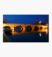 Blue hour at Henley Photographic Print