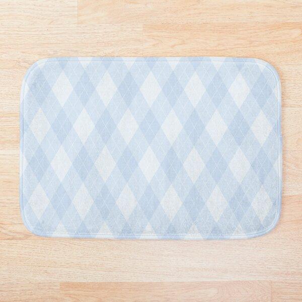 Argyle - Pastel Baby Blue Bath Mat