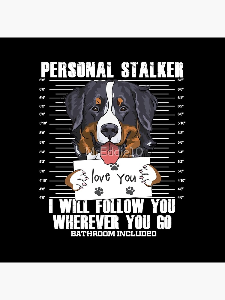 Bernese Mountain Dog Stalker Cartoon by MrEddie10