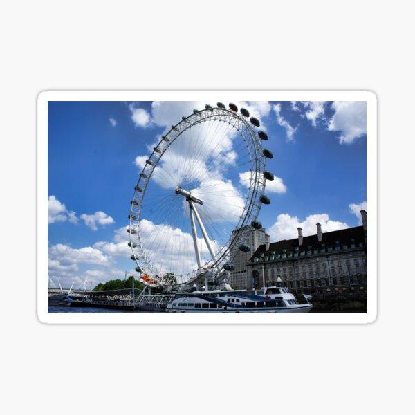 London Eye on a sunny day Sticker
