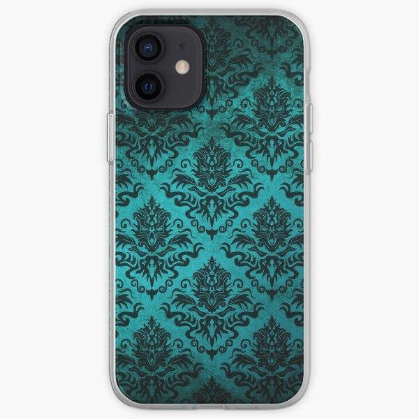 Teal Damask iPhone Soft Case