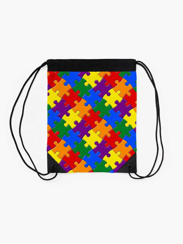 Alternate view of Jigsaw Pride Drawstring Bag