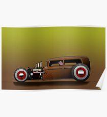 Hot Rod Jalopy Poster