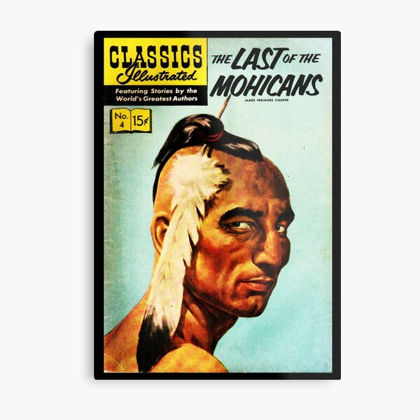 HIGH RESOLUTION The Last of the Mohicans Fenimore Cooper Vintage Comic Book Cover Metal Print