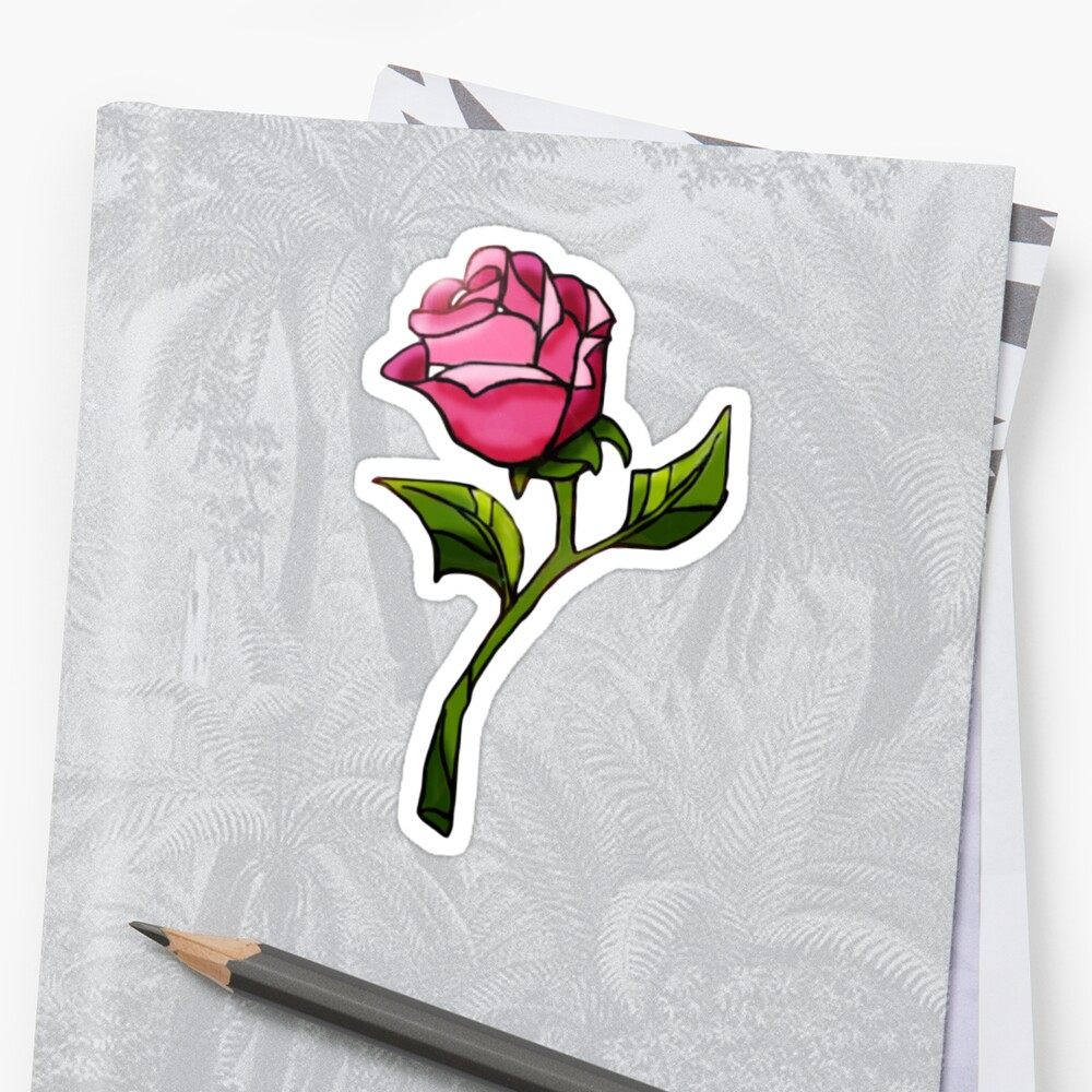 Quot Enchanted Rose Quot Sticker By Lindseycharming Redbubble