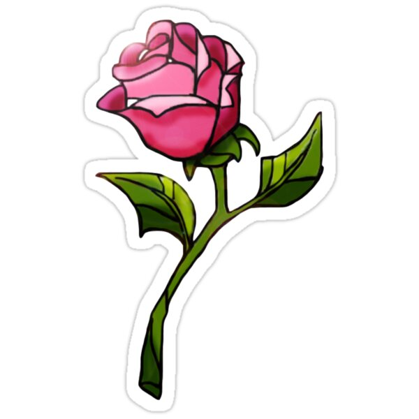 Quot Enchanted Rose Quot Stickers By Lindsey Jessop Redbubble