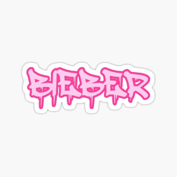 Bieber goteando graffiti Pegatina