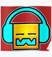 Geometry Dash headphones Poster